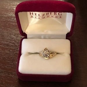 10K Solid Gold Ring with Genuine Diamonds